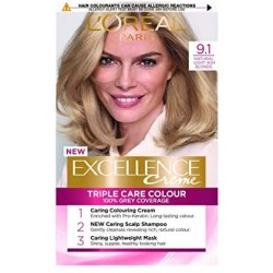 EXCELLENCE L OREAL PARIS – COLORATION – 9.1 BLOND TRES CLAIR CENDRE