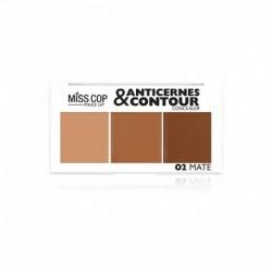 palette anticernes et contour Miss cop blonde N°02 mate