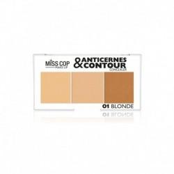 palette anticernes et contour Miss cop blonde N°01 blonde