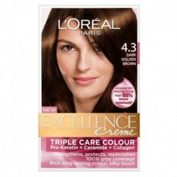 EXCELLENCE L OREAL PARIS – COLORATION – CHATAIN DORE – N°4.3