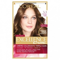 EXCELLENCE L OREAL PARIS – COLORATION – CHATAIN CLAIR DORE- N°5.3