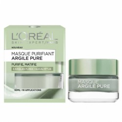 L OREAL – Masque argile pure – Purifie, matifie