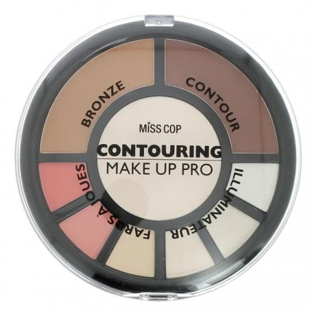Palette Contouring Multicolore Make Up Pro – Miss Cop