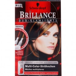 Coloration Brillance – Schwarzkopf rouge grenat et ambre  N°G50