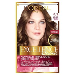 EXCELLENCE L OREAL PARIS – COLORATION – CHATAIN CLAIR DORE – N°5.3