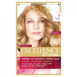 EXCELLENCE L OREAL PARIS – COLORATION – BLOND CLAIR– N°8
